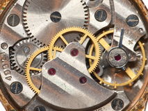 Old watch background. An old watch background with mechanism opened Royalty Free Stock Photography