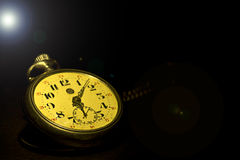 Old watch. On black background Royalty Free Stock Photography