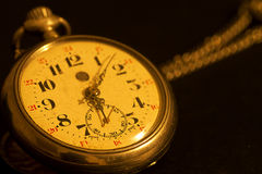 Old watch. On black background Royalty Free Stock Image