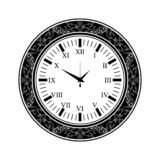 Old watch black silhouette vector illustration