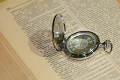 Old watch and book Royalty Free Stock Photo
