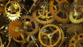Old watch gears background with appearing new ones stock video footage