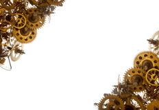 Old watch gears background BW Royalty Free Stock Photo