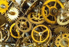 Old watch gears background Stock Image