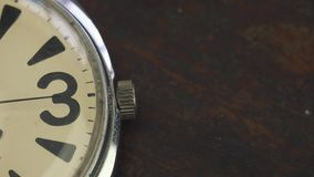 Old watch lies on the table.  stock video footage