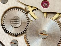 Old watch mechanism Royalty Free Stock Photography