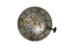 Old watch mechanism close up image Royalty Free Stock Image