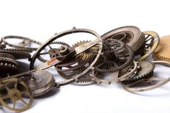 Old watch parts Royalty Free Stock Image