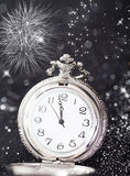 Old watch pointing midnight - New Year concept Royalty Free Stock Image