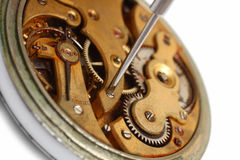 Old watch repair close-up Royalty Free Stock Photo