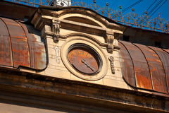 Old watch on the roof Stock Images