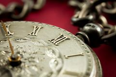 Old watch, time concept. With old clock Royalty Free Stock Photo
