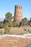 Old Watch Tower at Grand Canyon Stock Photography