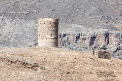 Old watch tower in Oman Stock Image