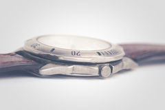 Old watch in vintage style  on white background Royalty Free Stock Images