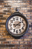 Old watch on the wall Royalty Free Stock Photos