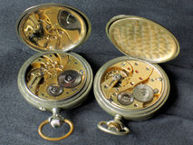 Old watches works. Works of an old pocket watch Royalty Free Stock Image