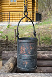 Old water bucket Royalty Free Stock Photo