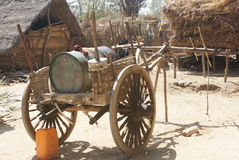 Old Water Cart in Burma. This old water cart is still being used to transport water in Myanmar or Burma Royalty Free Stock Photo