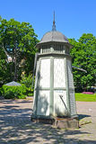 Old water column in Sibelius& x27;s park. Kotka, Finland Stock Images