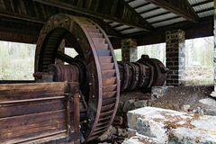 Old water driven forge smithy Royalty Free Stock Photo