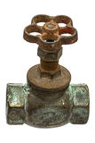 Old water faucet,  on white background Royalty Free Stock Photography