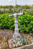 Old water hydrant. In the a garden Royalty Free Stock Photo