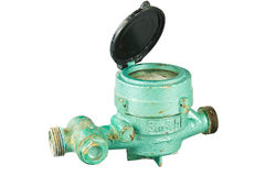Old water meter Royalty Free Stock Photo
