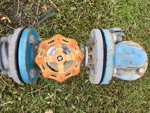 The Old water meter. Old water meter in garden royalty free stock photos