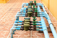 Old Water meters System Stock Photography