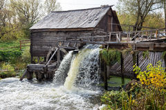 Old water mill. Ancient water mill from the village Krasnikovo. Kursk region. Russia. Built in 1861 stock photography