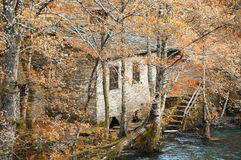 Old water mill in the forest Royalty Free Stock Photos