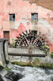 Old water mill and a little river Royalty Free Stock Photo