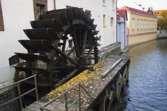 Old water mill in Prague, Czech Republic Royalty Free Stock Photography