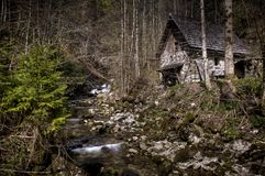 Old water mill in Stiegengraben, Austria Royalty Free Stock Images