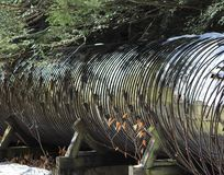 Old water pipe line. Old hydro power plant water pipe line Stock Images