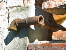Old water pipes Royalty Free Stock Photo