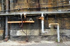 Old Water Pipes Royalty Free Stock Image