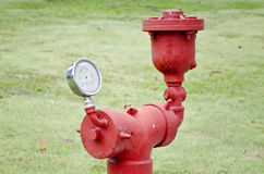 Old water pressure meter Stock Photos