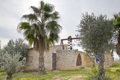 Old water pump Binyamina. Old water pump from the beginning of 20th century in Binyamina Israel stock image