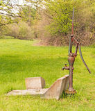 Old water pump and faucet Stock Photography