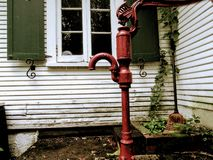 Old water pump stock images