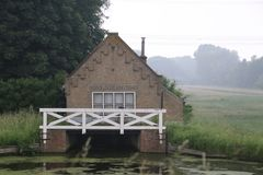 Old water pumping station of Stein in Haastrecht in the Netherlands.  royalty free stock images
