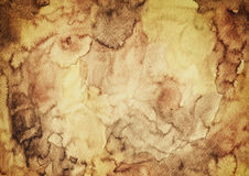 Old Water and Rust Stained Paper Royalty Free Stock Image