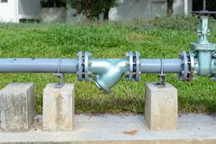 Old water supply pipeline Royalty Free Stock Photography