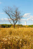 Old water supply tower near Donetsk,Ukraine Stock Image