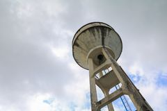 Old water tank for agriculture with copy space for add text.  Royalty Free Stock Photos