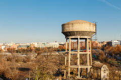 Old water tanks in Madrid, Spain Stock Photography