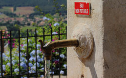 Old water tap. In Bormes-les-Mimosas, Provence Stock Photos