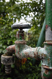 Old water tap without dripping water Stock Photos